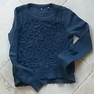Anthro Knitted & Knotted Belvoir Overlay Sweater